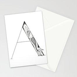 Mermaid Alphabet Series - A Stationery Cards
