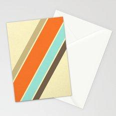Retro Stripes Stationery Cards