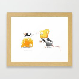 Swap Me! #Cheese Framed Art Print