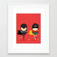 super heroes Framed Art Prints featuring Heroes & super friends! by Juliana Rojas | Puchu