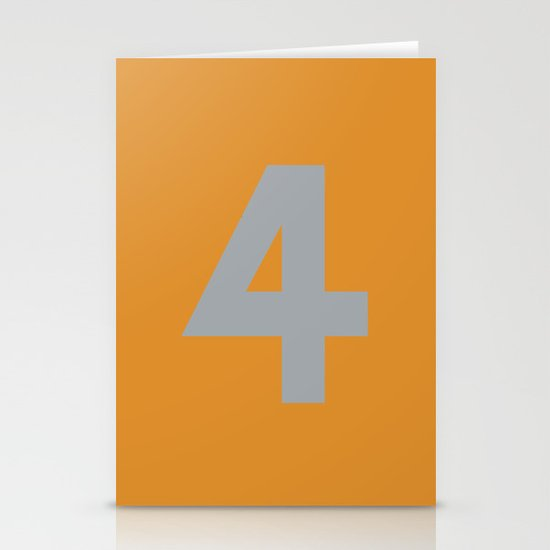 Number 4 Stationery Cards
