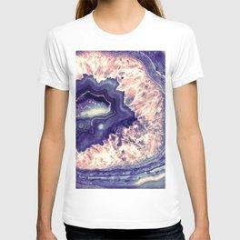 Pale Pink Indigo Teal Quartz Crystal T-shirt