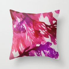 Morning Blossoms 2 - Magenta Variation Throw Pillow