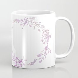 Wreath Floral In Pink And Purple Coffee Mug