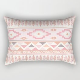 Pink Boho Tribal Aztec Rectangular Pillow
