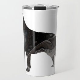 Labrador Retriever Black Fluid Abstract Art - Lab Image Travel Mug