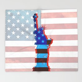 statue of liberty / USA Throw Blanket