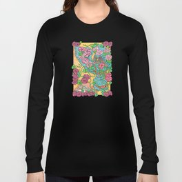 An Owl in Mourning Glory Long Sleeve T-shirt