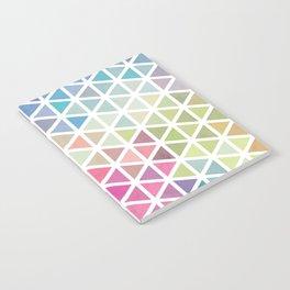 Geometric Fractal Triangles Bubblegum Rain Notebook