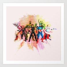 Avenger Team Art Print
