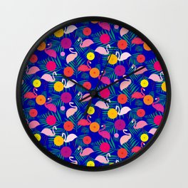 Chilling at the beach Wall Clock