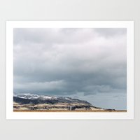 Waterfall in Iceland Art Print