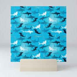 sharks! Mini Art Print