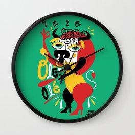 Toro loco - Crazy bull -Olé Olé - Spain Wall Clock