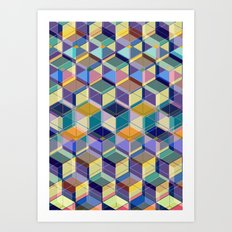 Cube Geometric VIII Art Print