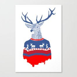 Ugly winter pulover Canvas Print