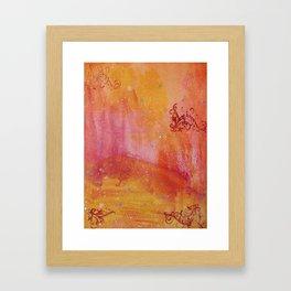 Scrolls and dots Framed Art Print