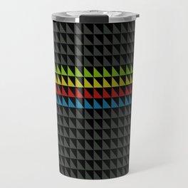 Four Tone Triangles Travel Mug
