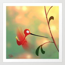 Hummin' Bird Art Print