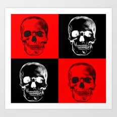 Red/Black SKULL Art Print