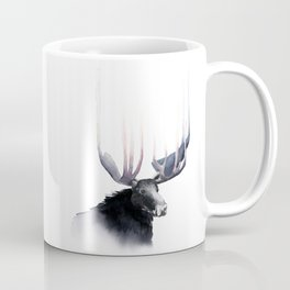 Moose in Watercolor - Elk Decor- King of the Forest Coffee Mug