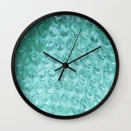 Aqua Bubble Wrap Wall Clock