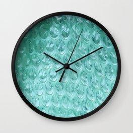 Aqua Bubble Wrap Wall Clock