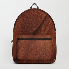 Beautiful Unique  brown wood inlay marquetry veneer design Backpack