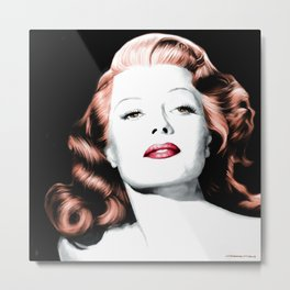 Rita Hayworth Large Size Portrait Metal Print