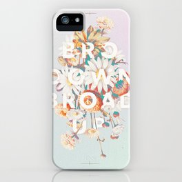 Bro Down, Broad Up iPhone Case
