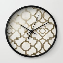 Moroccan Gold IV Wall Clock