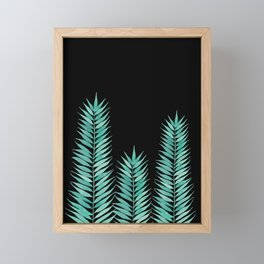 Tropical Leaves | Black Framed Mini Art Print