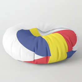 Great and Cool Romania Romanian Sticker Badge Design Floor Pillow