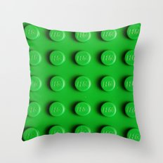 Buliding Blocks - Green Throw Pillow