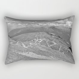 fisser yoke alps panorama serfaus fiss ladis tyrol austria europe black white Rectangular Pillow
