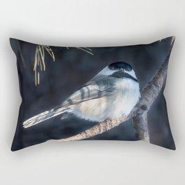 December Chickadee Rectangular Pillow