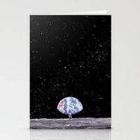 neil gaiman Stationery Cards featuring Neil Armstrong by Enrico Barin Guarise