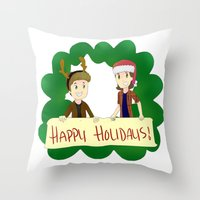 supernatural Throw Pillows featuring Supernatural by Brittany's Drawings and Doodles