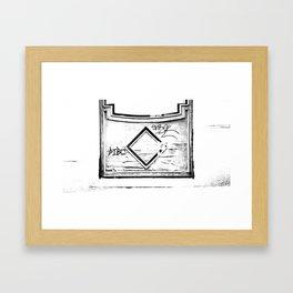 Madera vieja (Old wooden) Framed Art Print