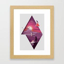 Landforms Framed Art Print