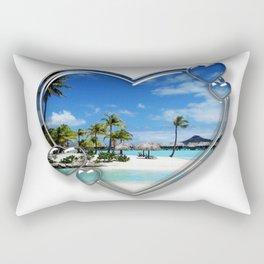 I Love Bora Bora Rectangular Pillow