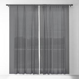 Jet Black Solid Color Parable to Jolie Paints Noir Sheer Curtain