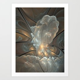 I had a dream, Abstract Fractal Art Art Print