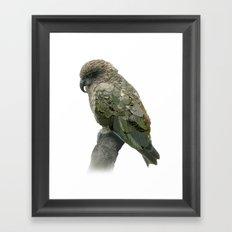 Kea Pattern Framed Art Print