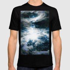 Orion Nebula Blue & Gray Black Mens Fitted Tee MEDIUM
