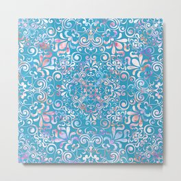 Summer Sea Mandala Metal Print