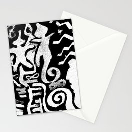 painting remix white Stationery Cards