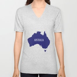 Australia Map Silhouette Unisex V-Neck