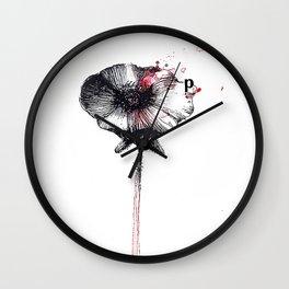 Papaverum Wall Clock