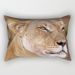 Lioness in Africa, wildlife Rectangular Pillow